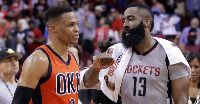 Russell Westbrook James Harden NBA Awards